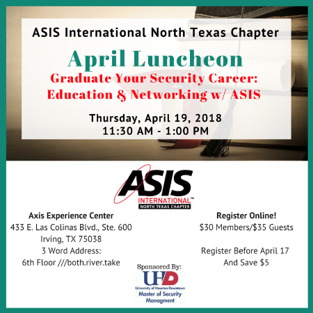 NTX-ASIS April 2018 Luncheon